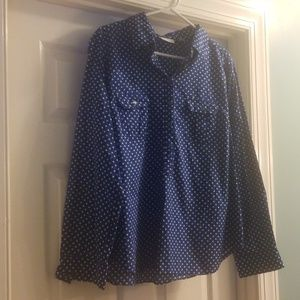 NY&C 1/2 Button Down Top